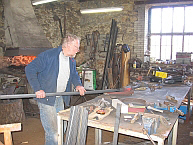 Ron McCurdie at his forge